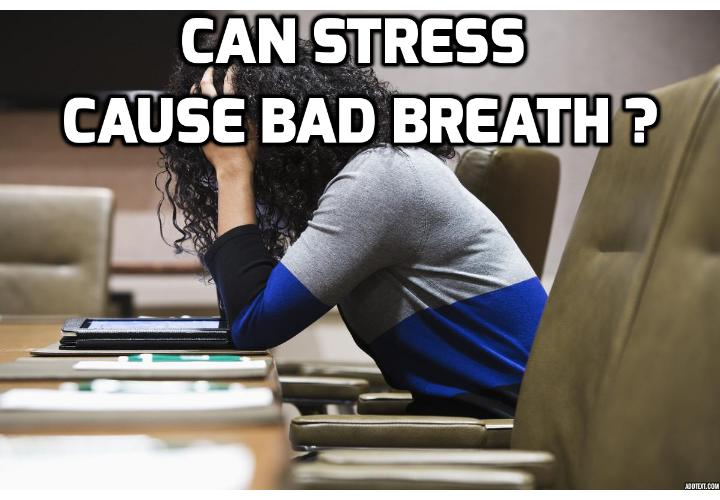 Stress causes mental and physical health problems, including halitosis (bad breath) - Bad breath, also called halitosis, can sometimes accompany stress or anxiety. While many factors can cause bad breath, such as poor dental hygiene, gum disease, or respiratory illnesses, prolonged stress can aggravate unhealthy oral conditions to make your breath smell unpleasant.